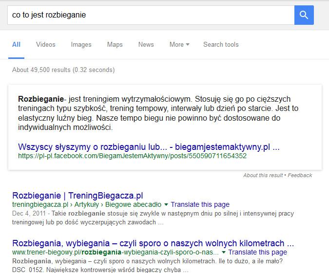 Co to jest Direct Answer - nowości Google