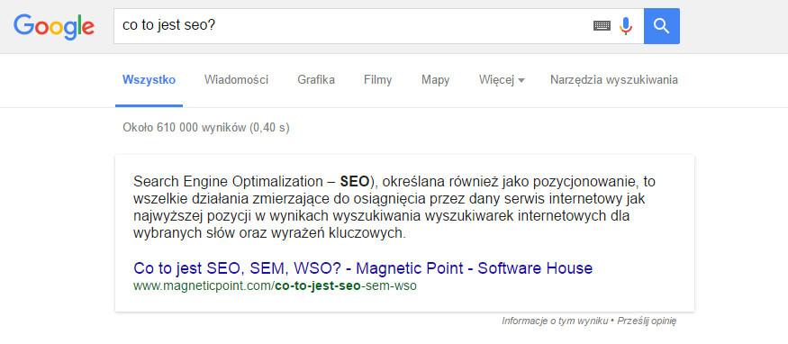 Schematy wyszukiwarki Google - SEO