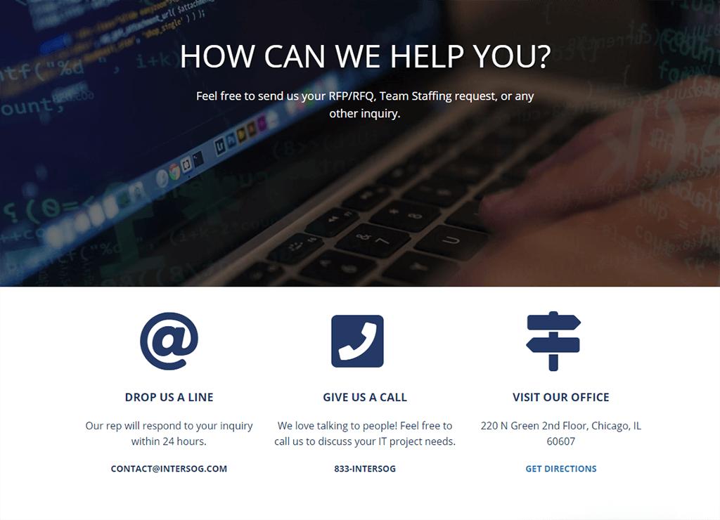Strona internetowa firmy - dane kontaktowe