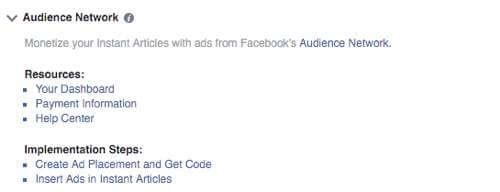 Facebook Audience Network w ekspresowych artykułach