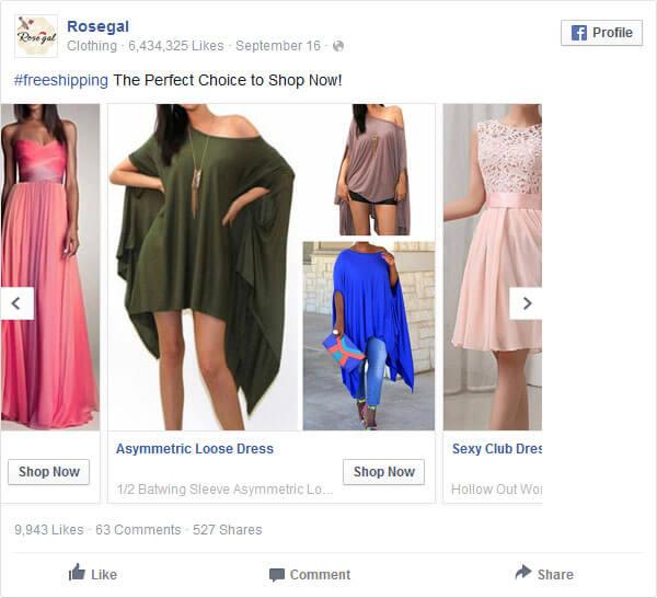 Wybór reklam na Facebooku