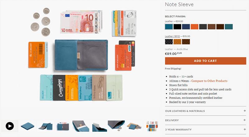 Zdjęcia produktów w sklepie internetowym pokazujące funkcjonalność