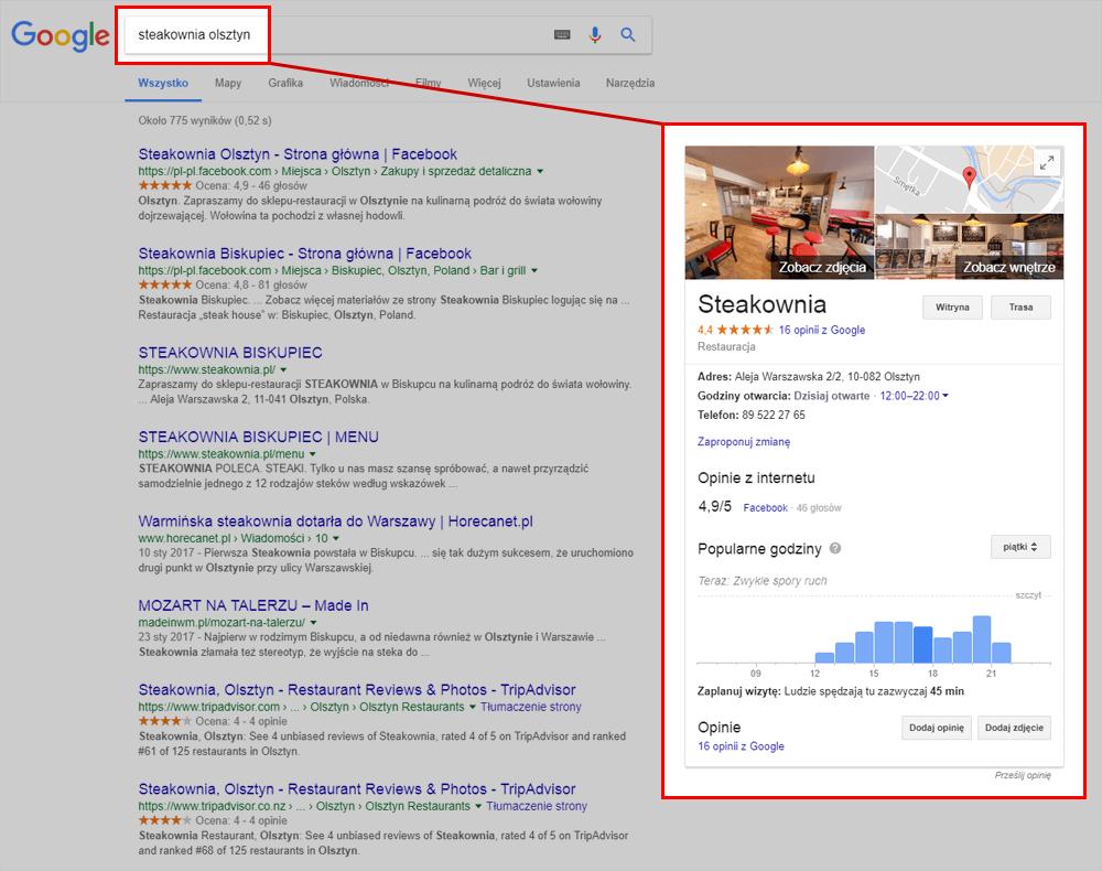 Promocja lokalnej firmy z pomocą Google Moja Firma