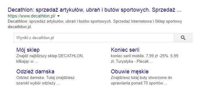 Google wyniki wyszukiwania rozszerzone