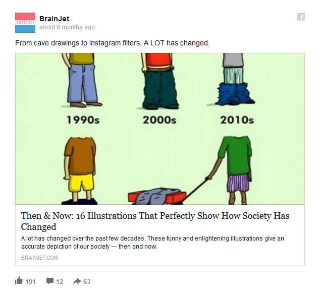 Reklamy Facebook - ilustracje
