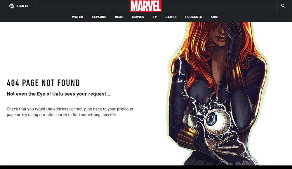 Ciekawa strona błędu 404