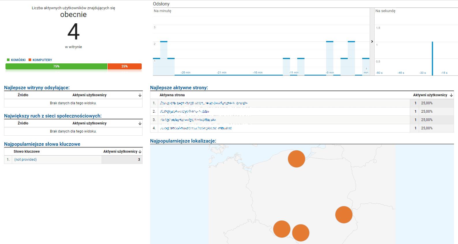 Jak korzystać z Analytics? - czas rzeczywisty