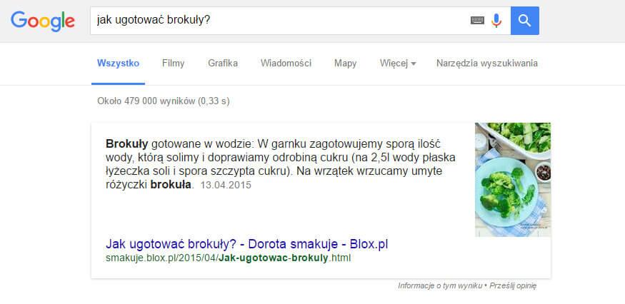 Schematy wyszukiwarki Google - przepis #1