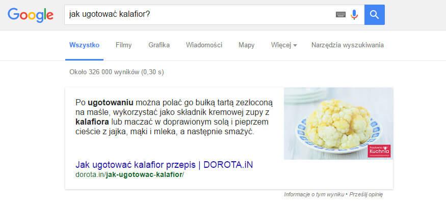 Schematy wyszukiwarki Google - przepis #2
