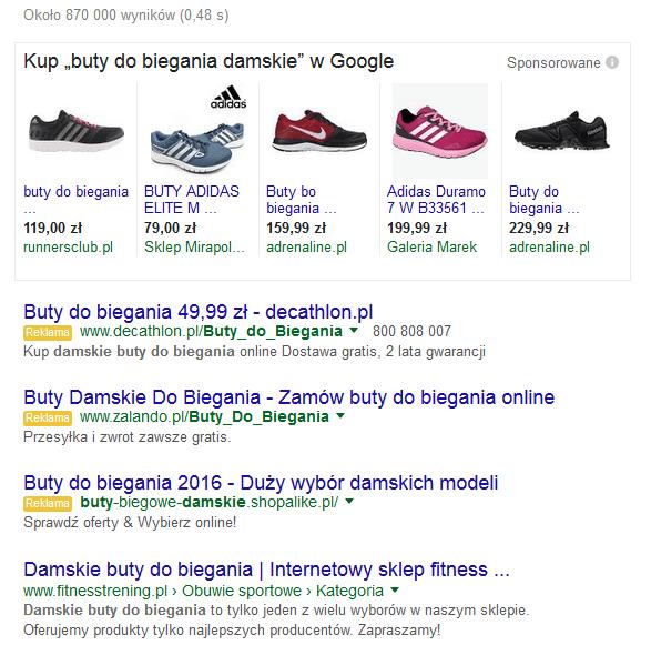 Kampania produktowa - wyniki wyszukiwań