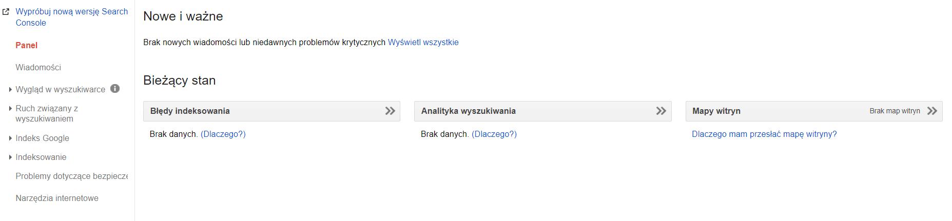 Kokpit Google Search Console