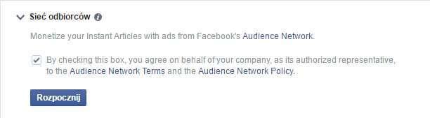 Konfiguracja reklam w Facebook Instant Articles