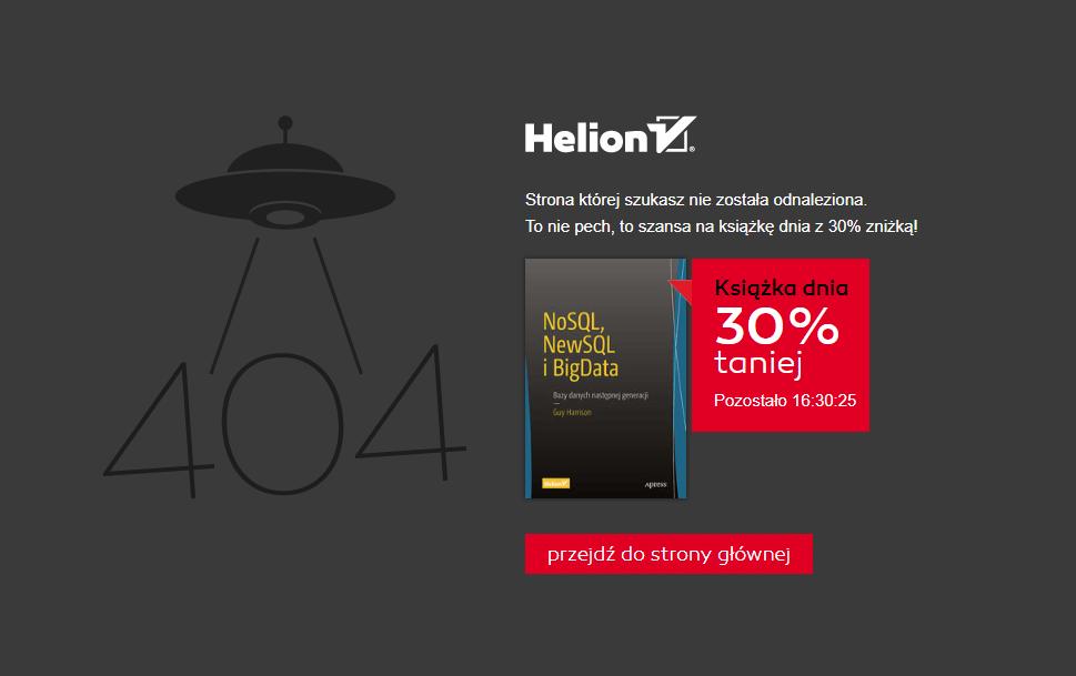 Konwersja strony błędu 404