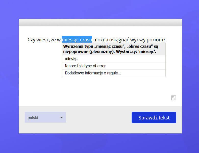 Pisanie lepszych tekstów z użyciem Language Tool