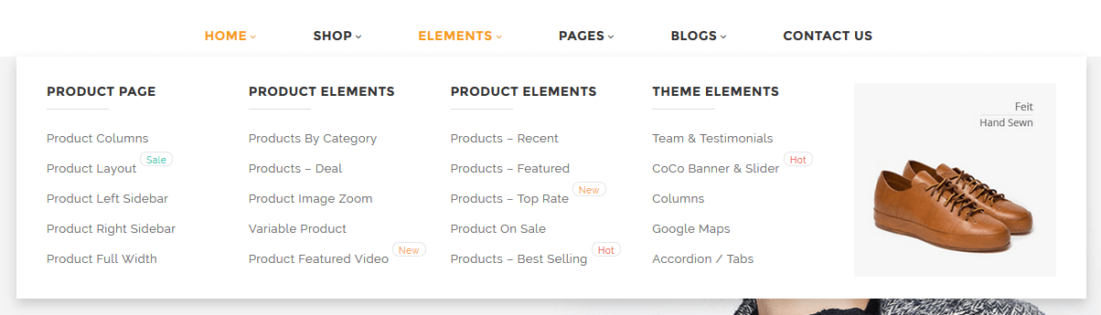 Mega menu - UX sklepu internetowego