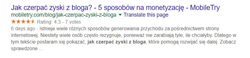Meta opis i tytuł w rezultatach wyszukiwania