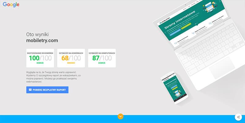 Mobile speed test - narzędzia do testowania prędkości strony