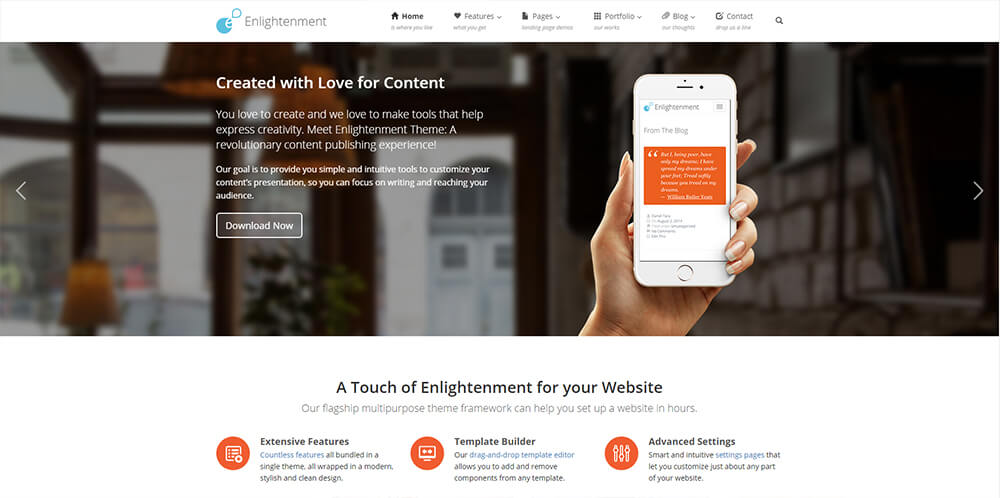 Motywy WordPress - Enlightenment