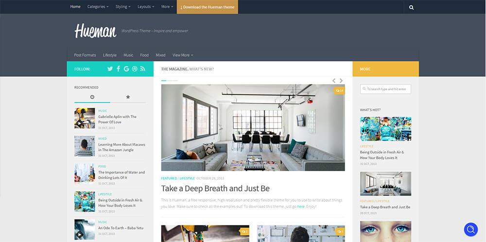 Motywy WordPress - Hueman