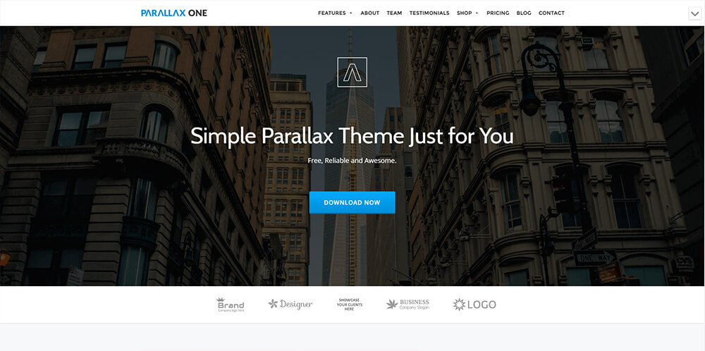Motywy WordPress - Parallax One