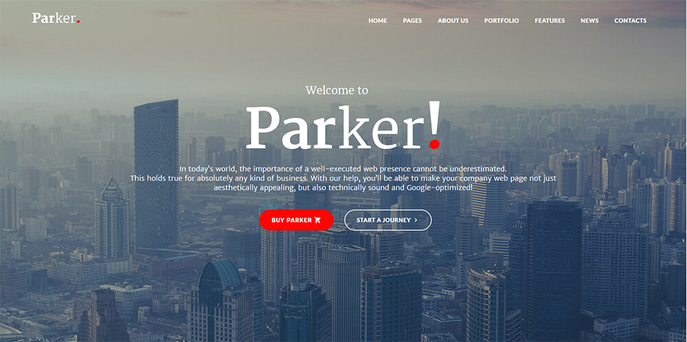 Motywy WordPress - Parker
