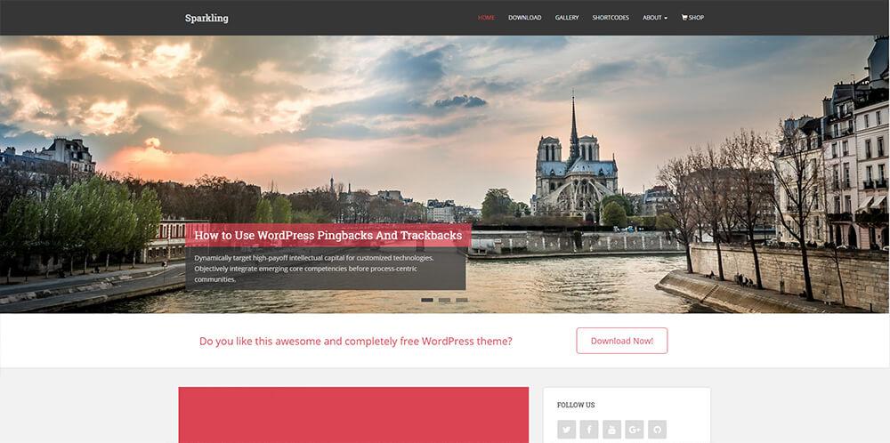 Motywy WordPress - Sprakling