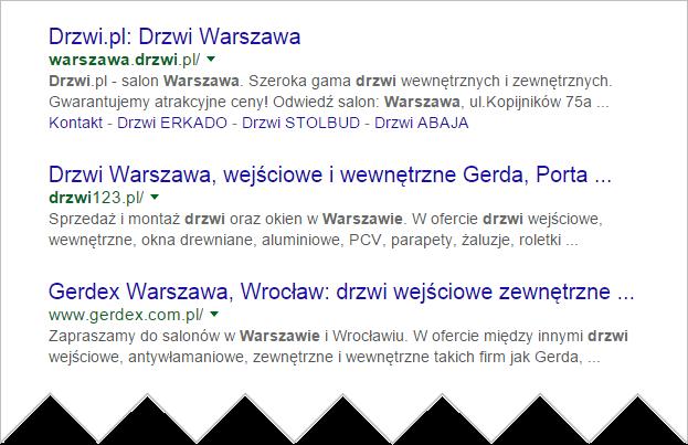 Nazwa strony internetowej - drzwi