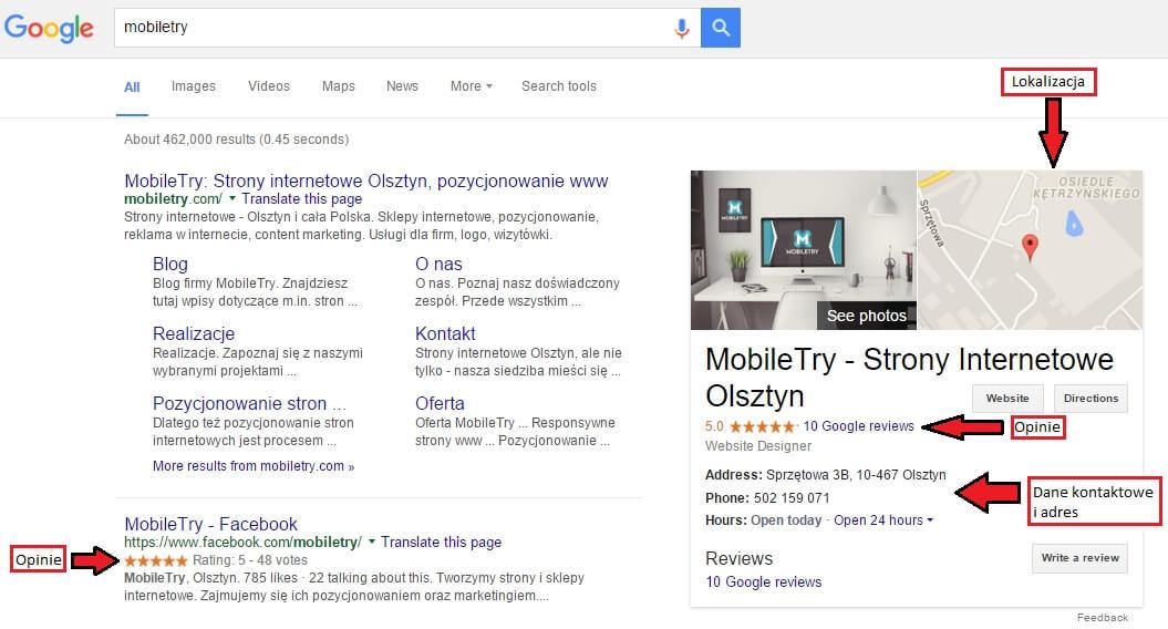 Nowe wyniki wyszukiwania w Google