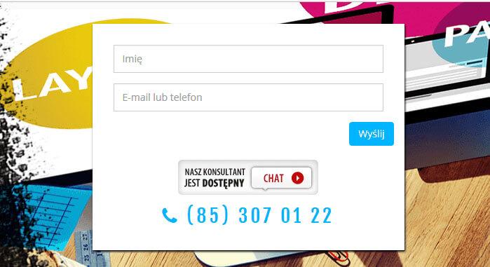 Pozyskiwanie leadów w internecie - nr telefonu pod formularzem