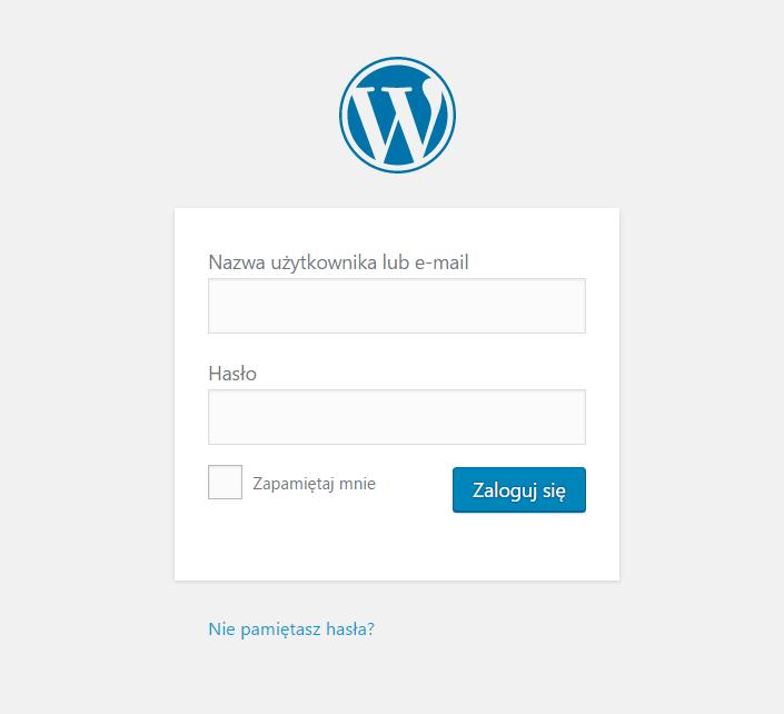 Logowanie w WordPressie