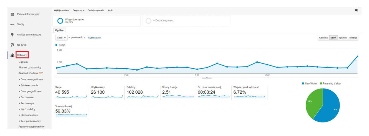 Google Analytics - odbiorcy