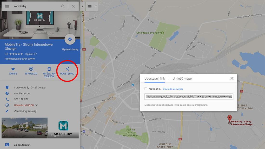 Osadzanie mapy na stronie internetowej