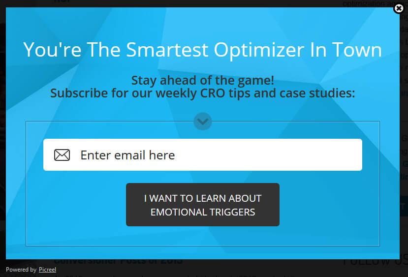 Skuteczny newsletterowy pop-up - personalizacja