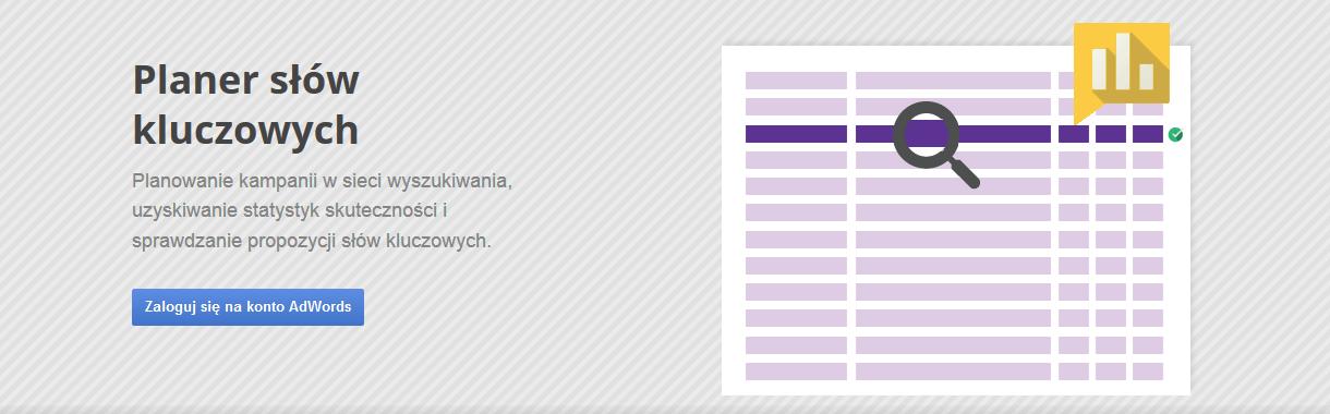 AdWords - planer słów kluczowych