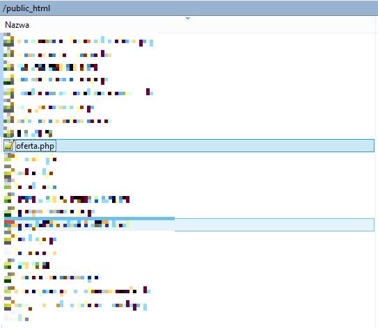 Edycja pliku zwykłej podstrony HTML