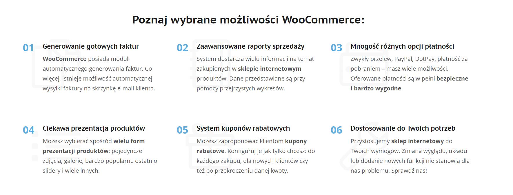Zalety wtyczki WooCommerce opisane w sposób, który zwraca uwagę