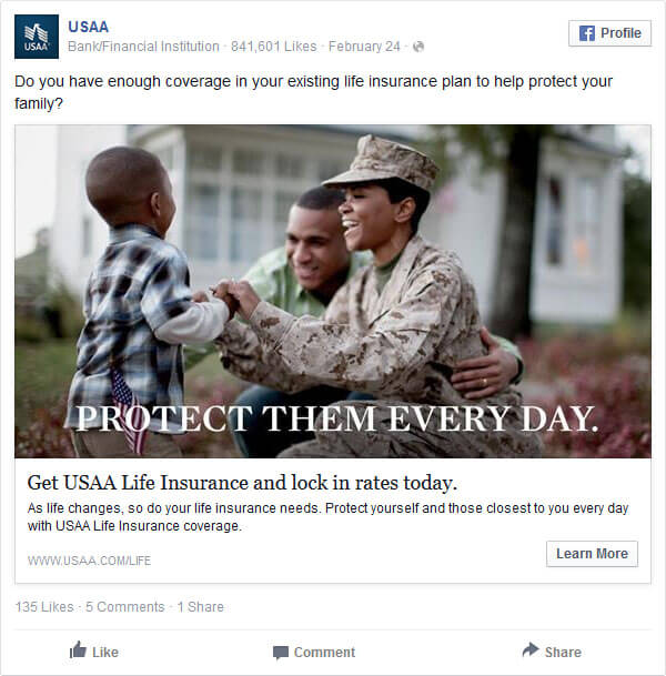 Reklama Facebook - rodzina