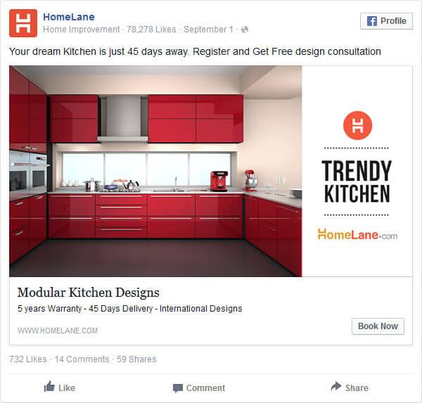 Reklama kuchnia Facebook