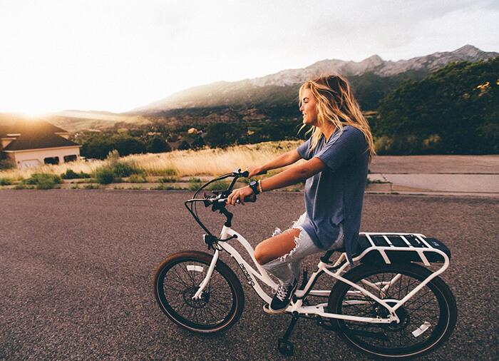 Graficzny storytelling - rower dla kobiety