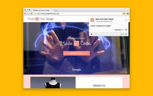 Rozszerzenie Google Keep do Chrome