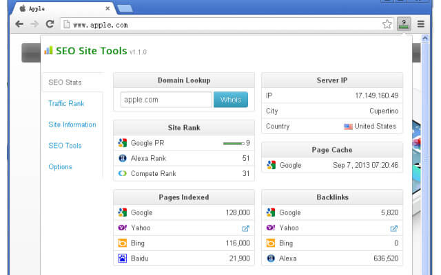 SEO Site Tools, Site Analysis
