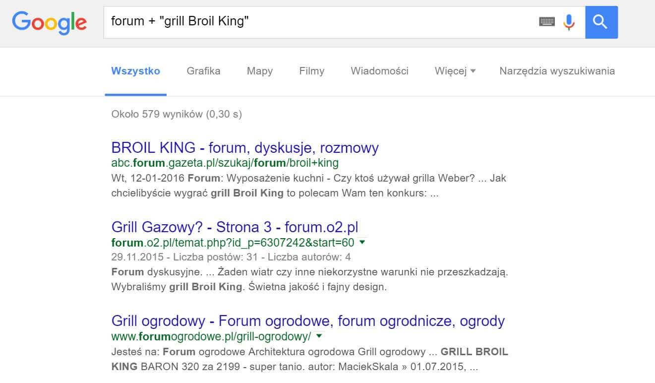 Sprawdzanie frazy w Google