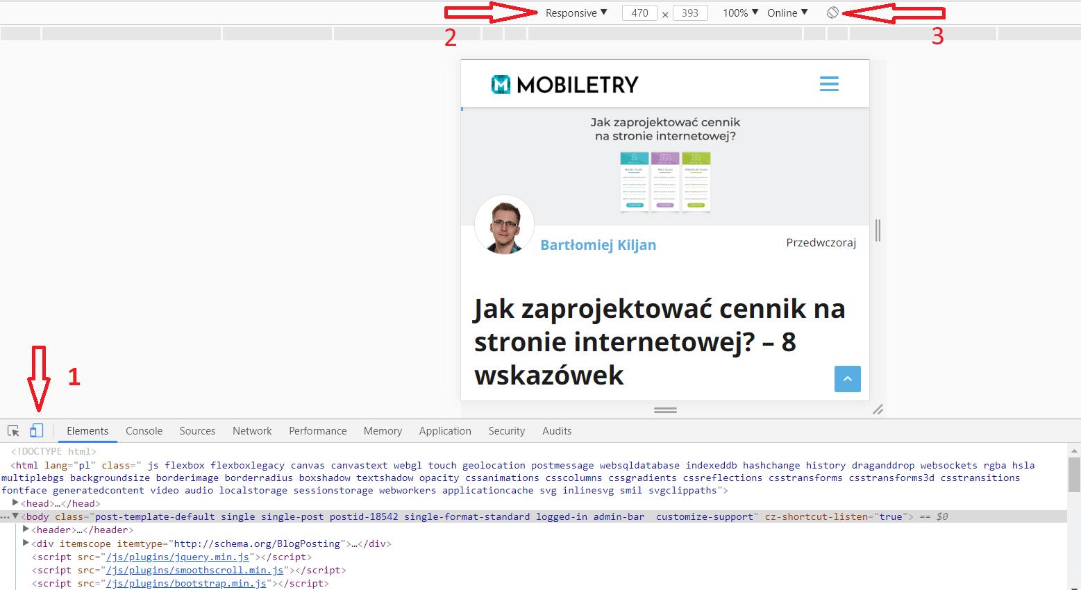 Sprawdzanie responsywności strony internetowej