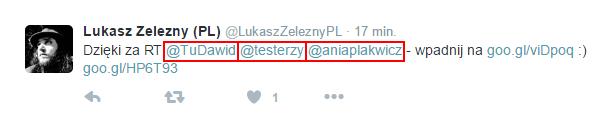 Twitter - mention, czyli wspominanie