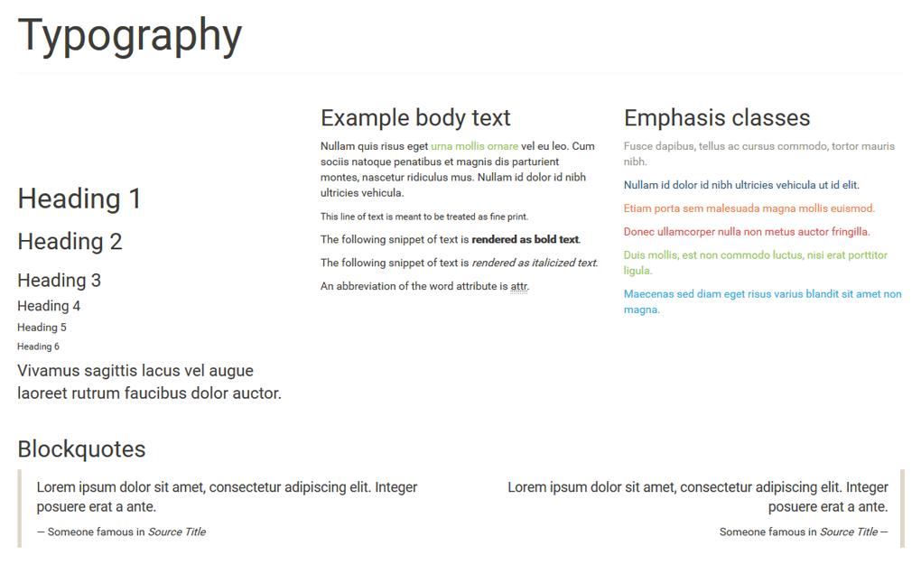 Typografia - przykład