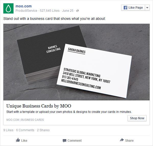 Unikalna reklama Facebook