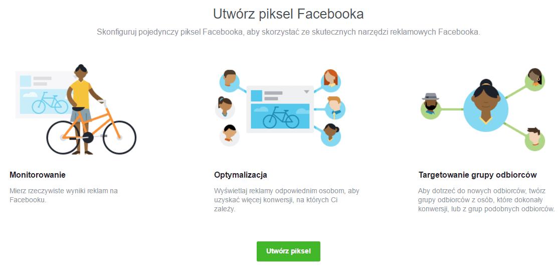 Stwórz kod Facebook Pixel
