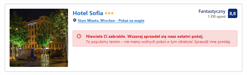 Marketing FOMO - wygasła oferta