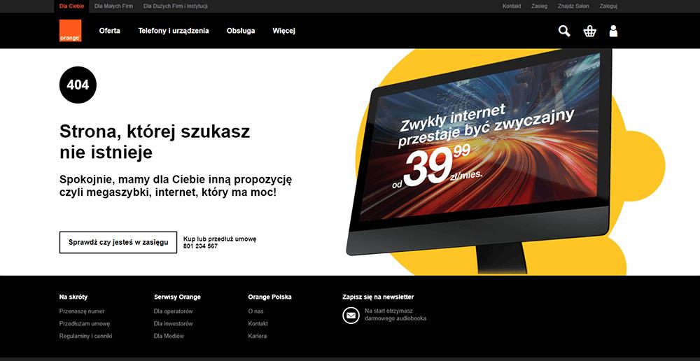 Przejście do oferty - strona błędu 404