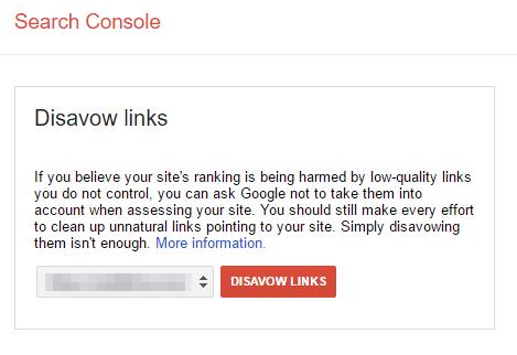 Zrzekanie się linków przychodzących